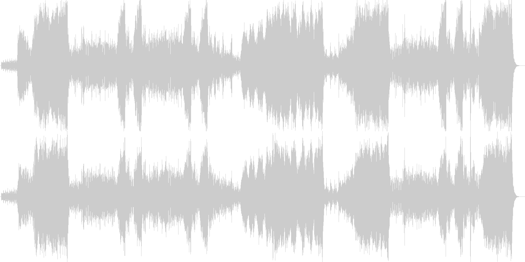 聴くだけで思わず奮い立つ躍動的なポップスの未再生の波形