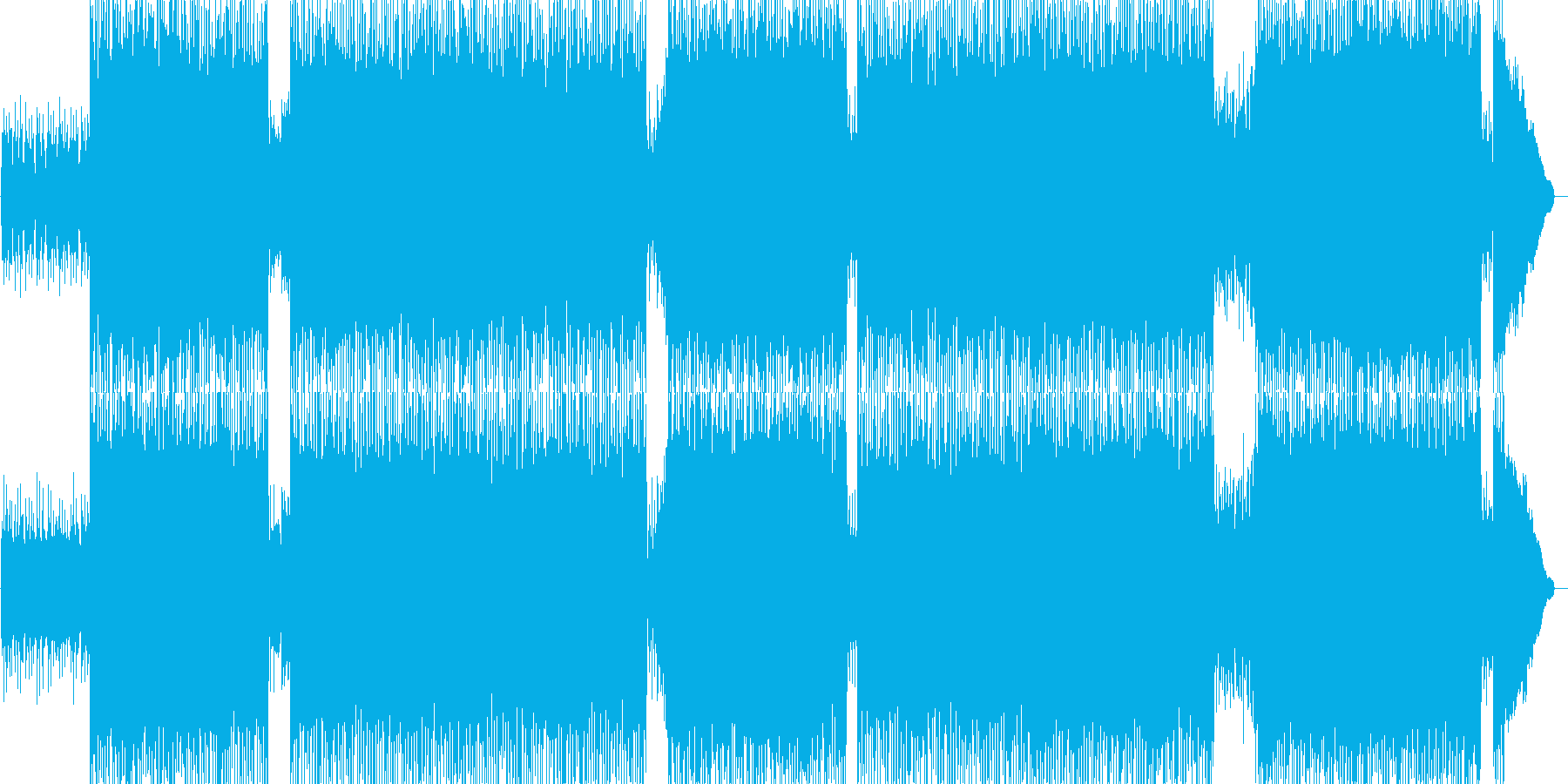 バトルやレーシングの挿入曲の再生済みの波形
