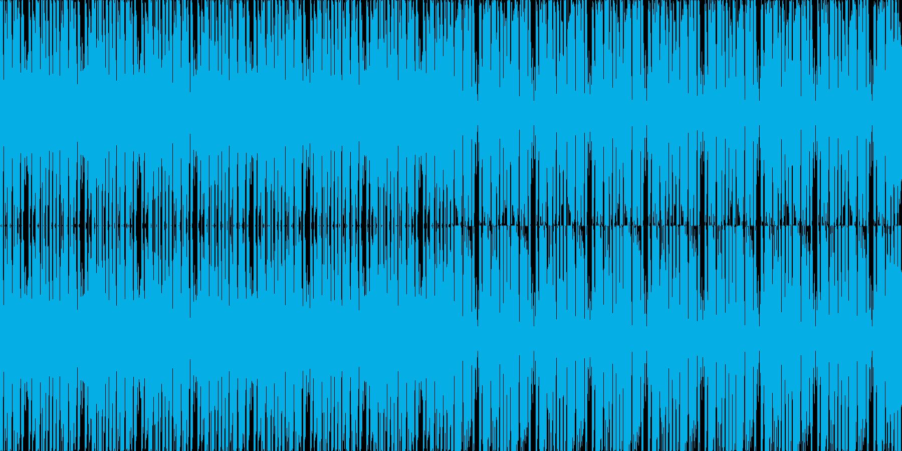 【アップテンポなノリノリファンク】の再生済みの波形