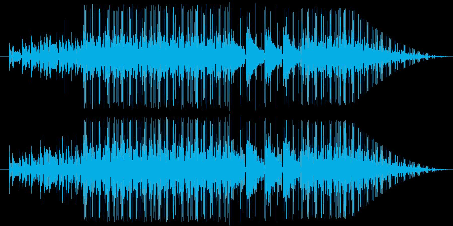 オールド感満載なHIPHOPBEATの再生済みの波形