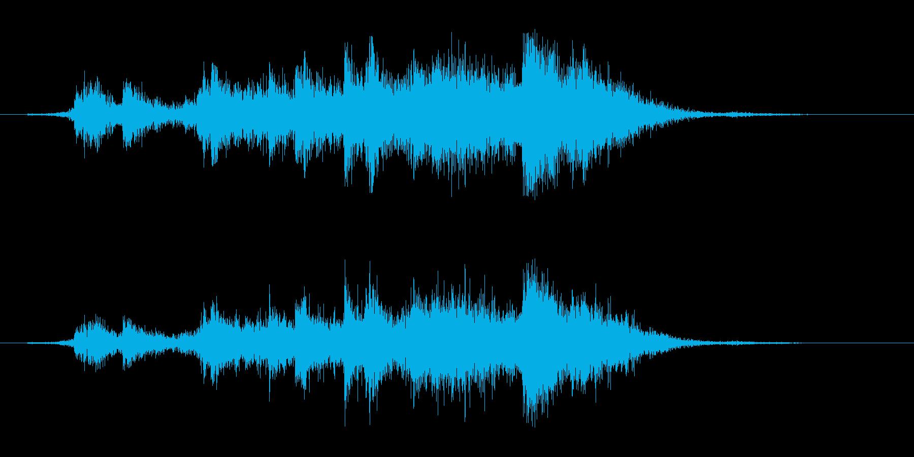 【生録音】ガラーガシャン(ショート)の再生済みの波形