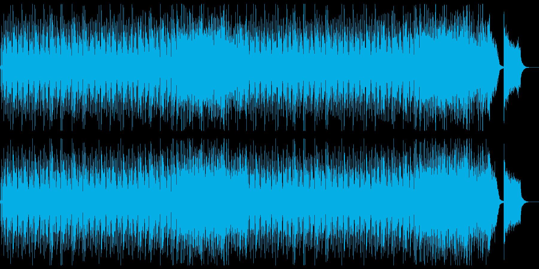 高速ビートのドラムンベースの再生済みの波形