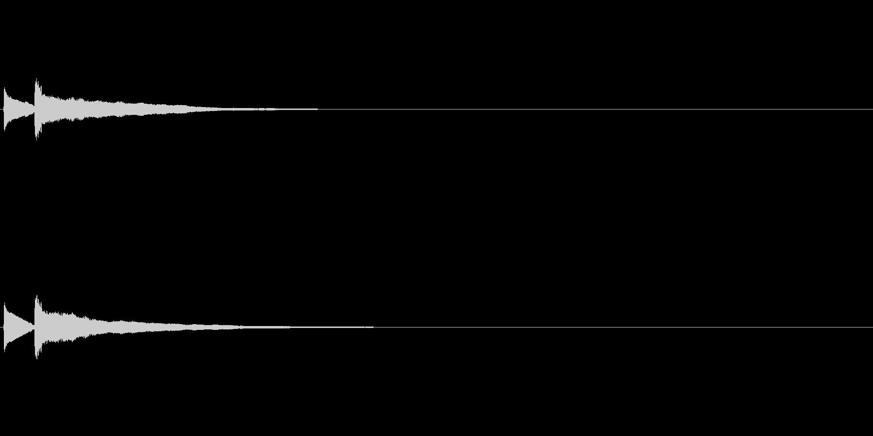 【ひらめき02-2】の未再生の波形