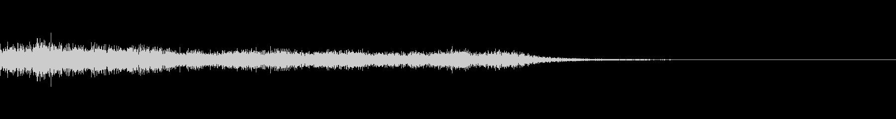 ショック/衝撃/オーケストラヒット/1の未再生の波形