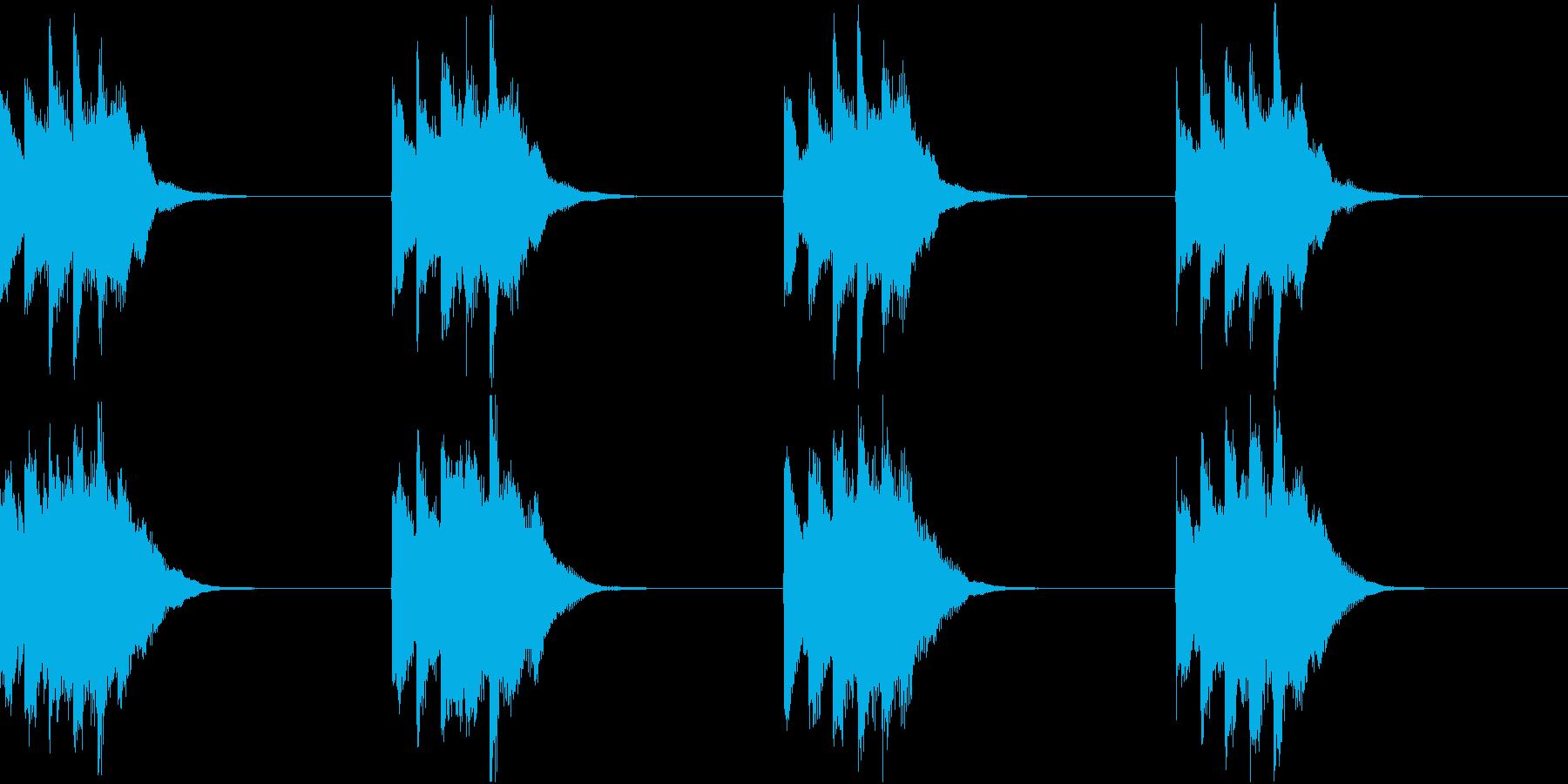 シンプル ベル 着信音 チャイム A19の再生済みの波形