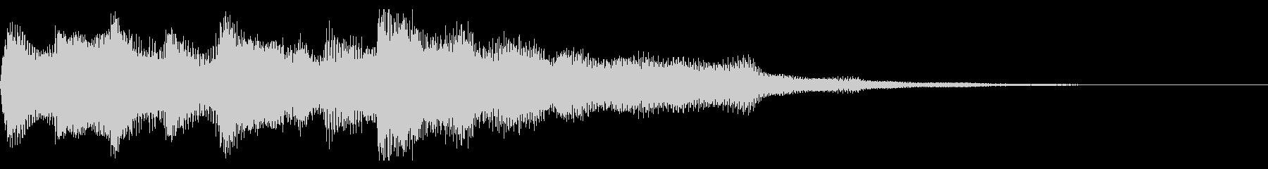 クリーンギター 場面転換 CMインの未再生の波形