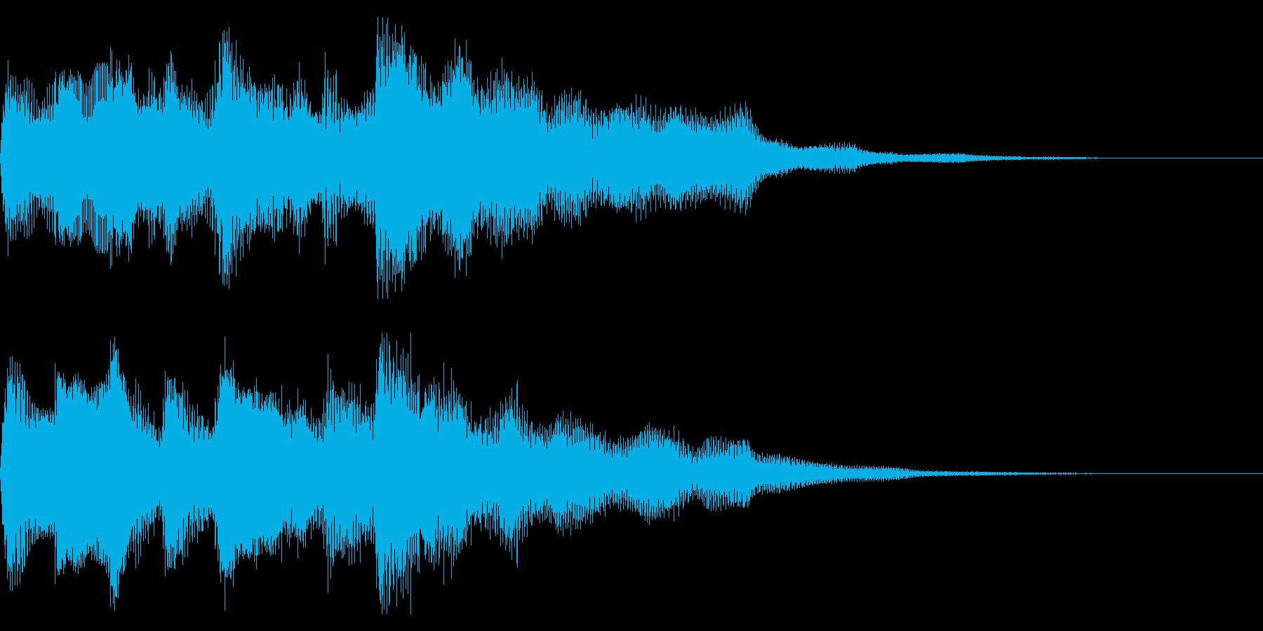 クリーンギター 場面転換 CMインの再生済みの波形