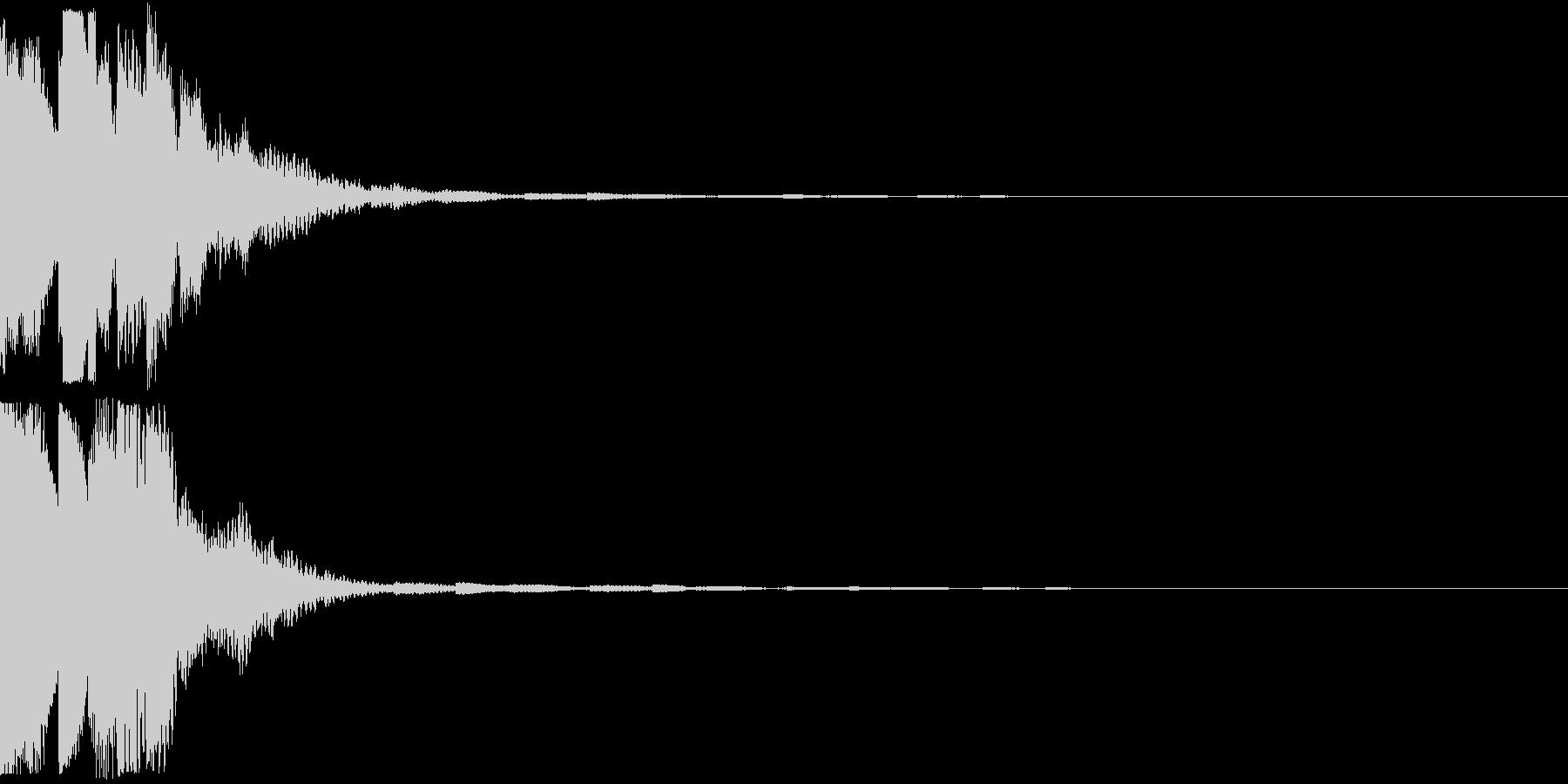 クリック キラリン 明るい 決定 11の未再生の波形