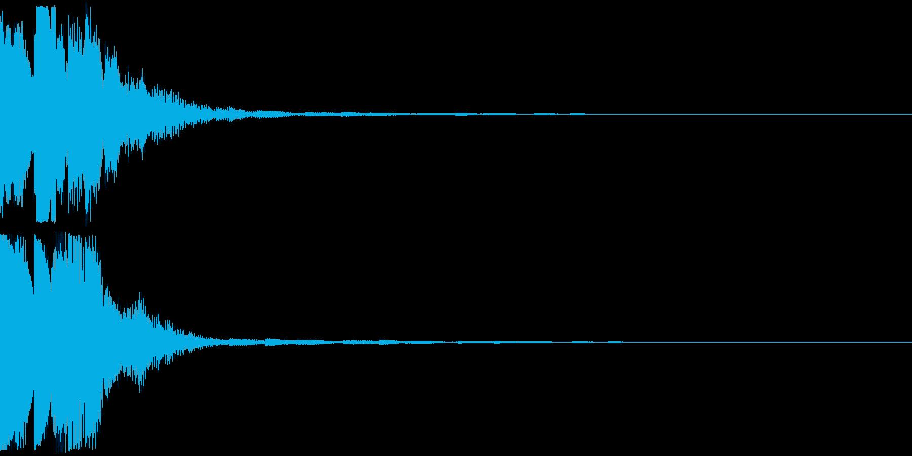 クリック キラリン 明るい 決定 11の再生済みの波形