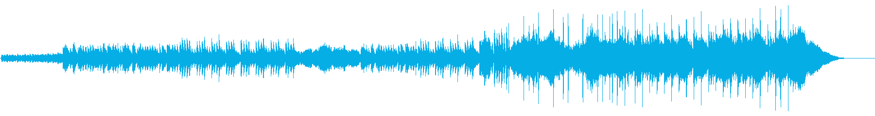 ピアノを使った爽やかで優しい曲の再生済みの波形
