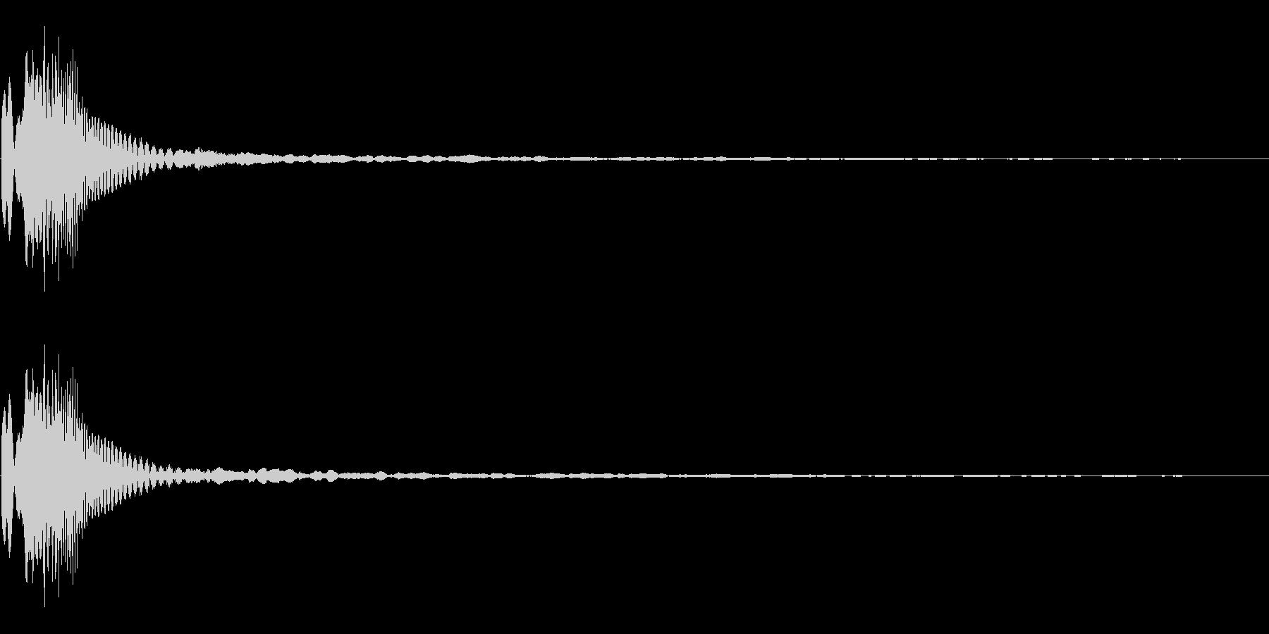 近未来チックな電子音の未再生の波形