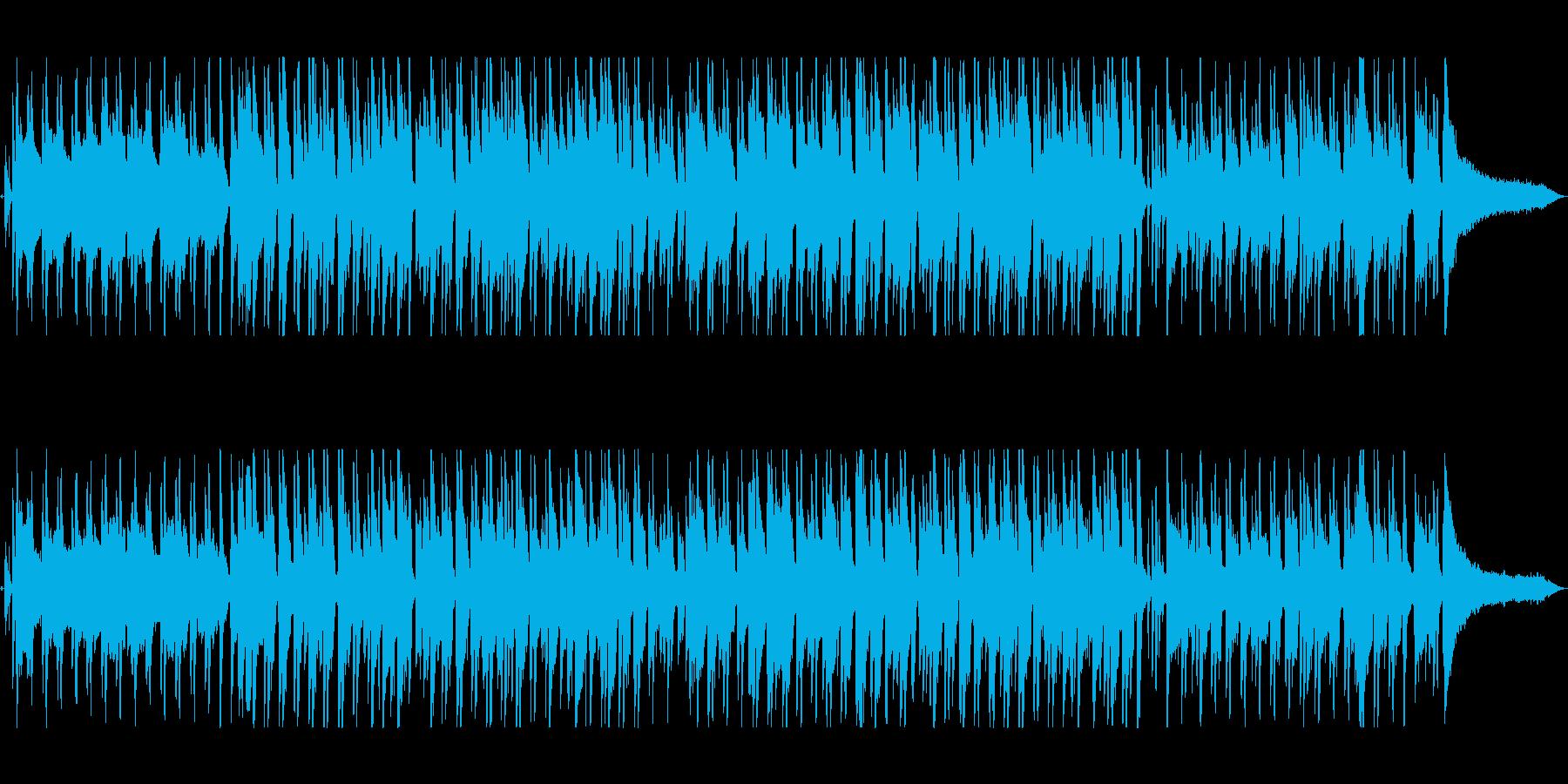 明るくおしゃれな曲調のボサノバの再生済みの波形