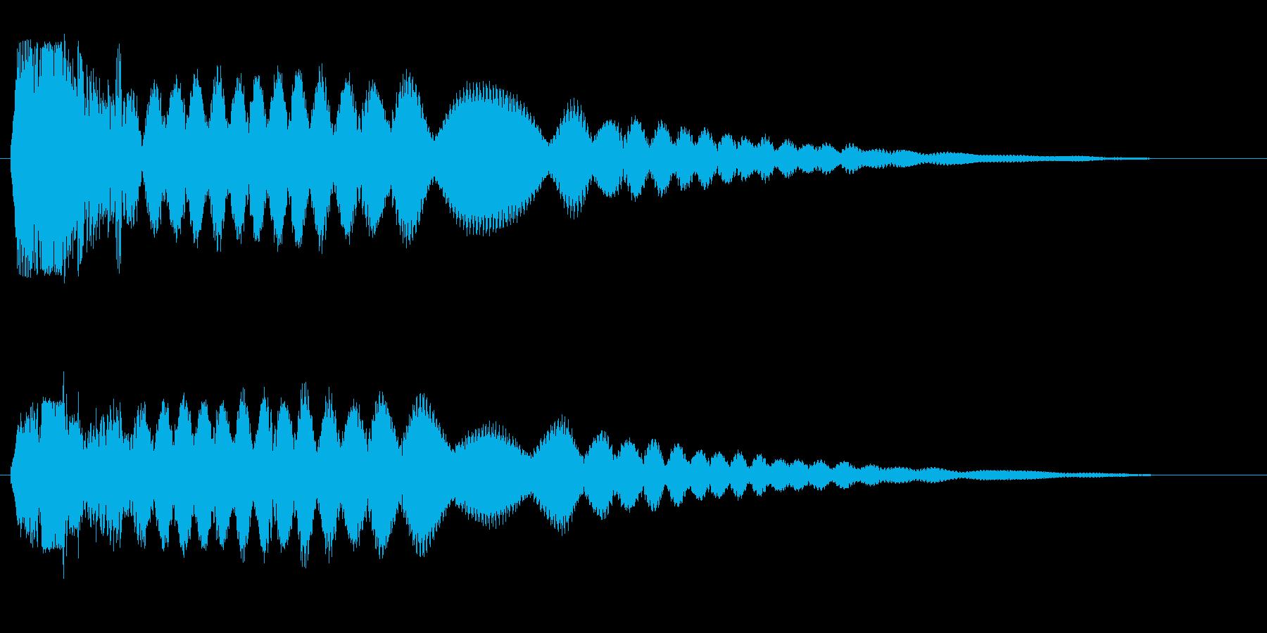 シャキ〜ン高音(剣や刀)の再生済みの波形