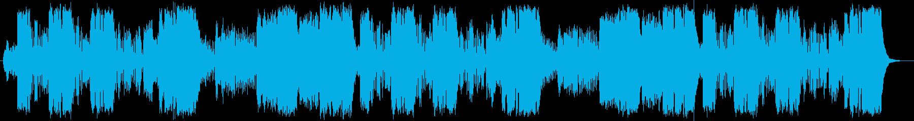 メルヘンな管弦楽器シンセサイザーサウンドの再生済みの波形