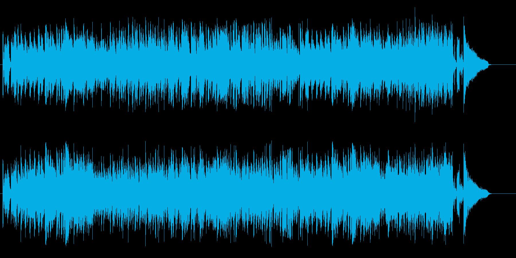 店内BG向けのほのぼのとしたジャズの再生済みの波形