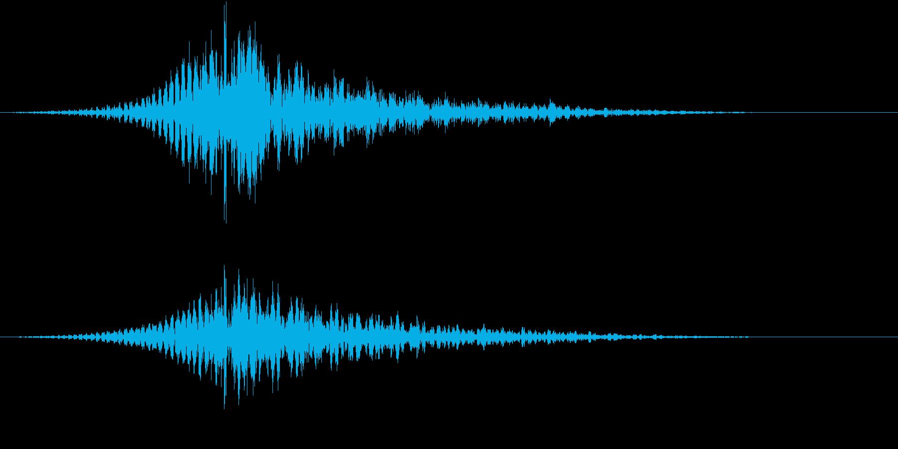 インパクト音の再生済みの波形