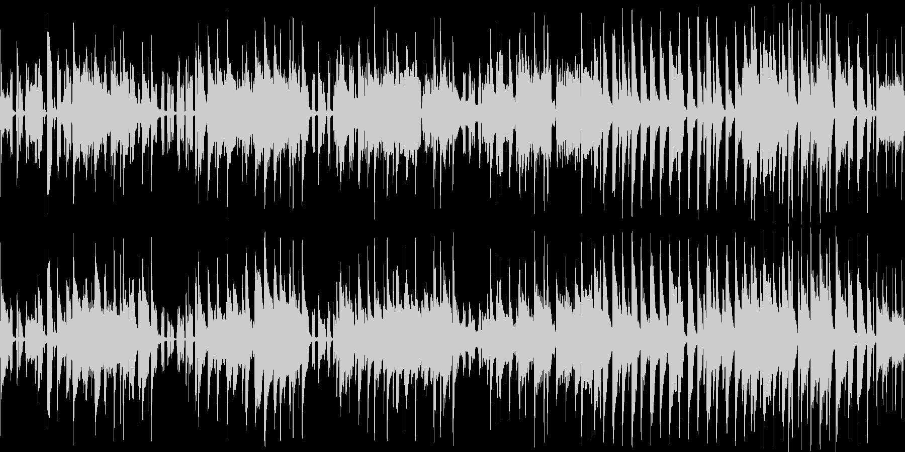 ほのぼのとしてコミカルなジャズチューン…の未再生の波形