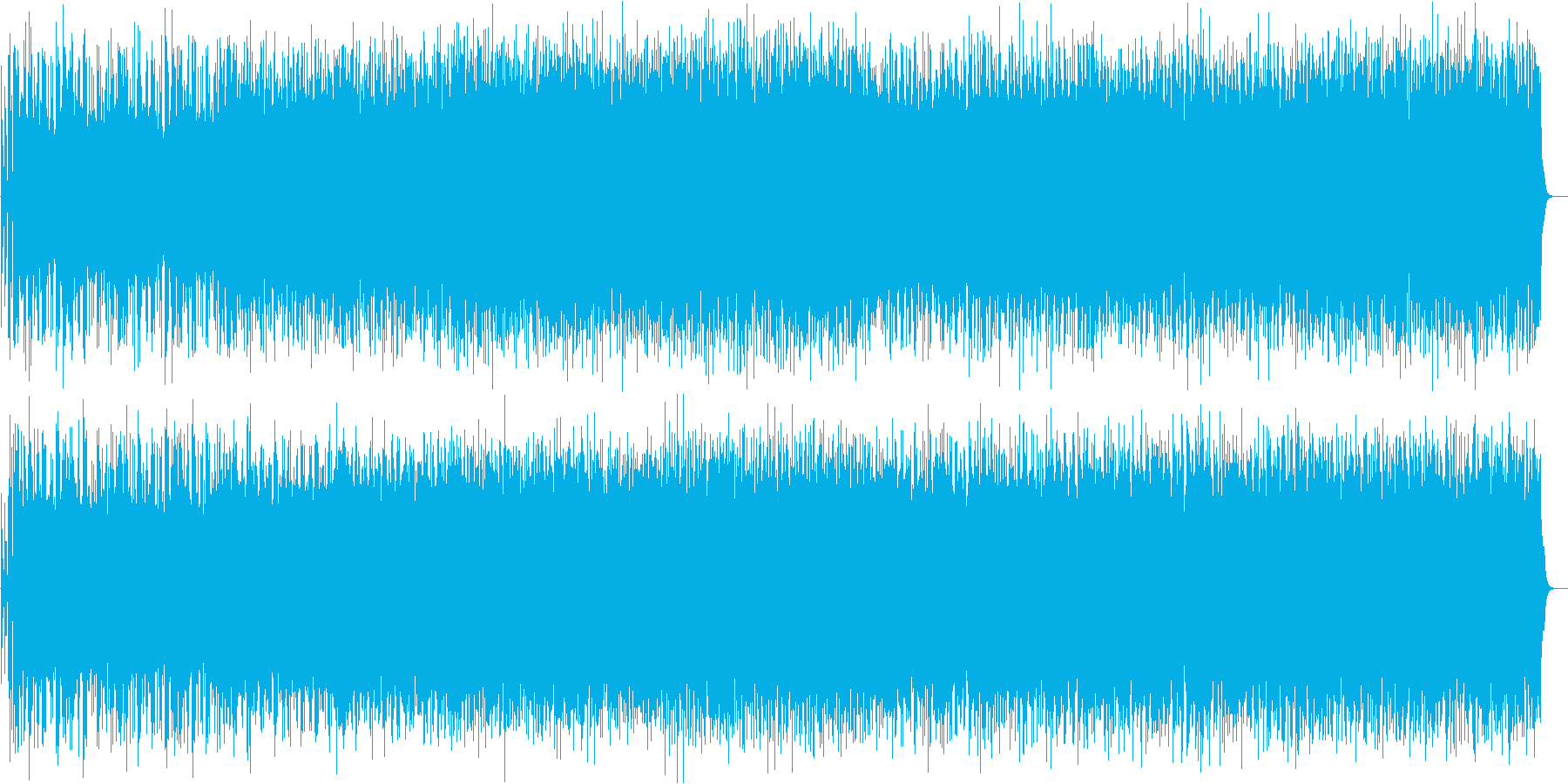 戦いのようなストリングスロックの再生済みの波形