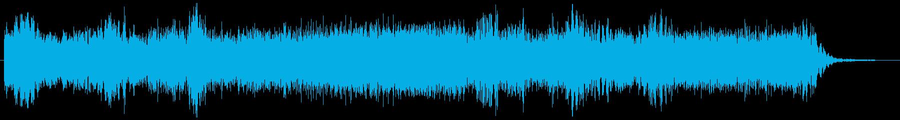 メタル系ギター 攻撃的でクールなフレーズの再生済みの波形