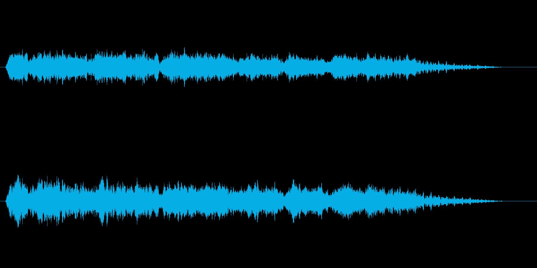 幻想的な環境音楽風の再生済みの波形