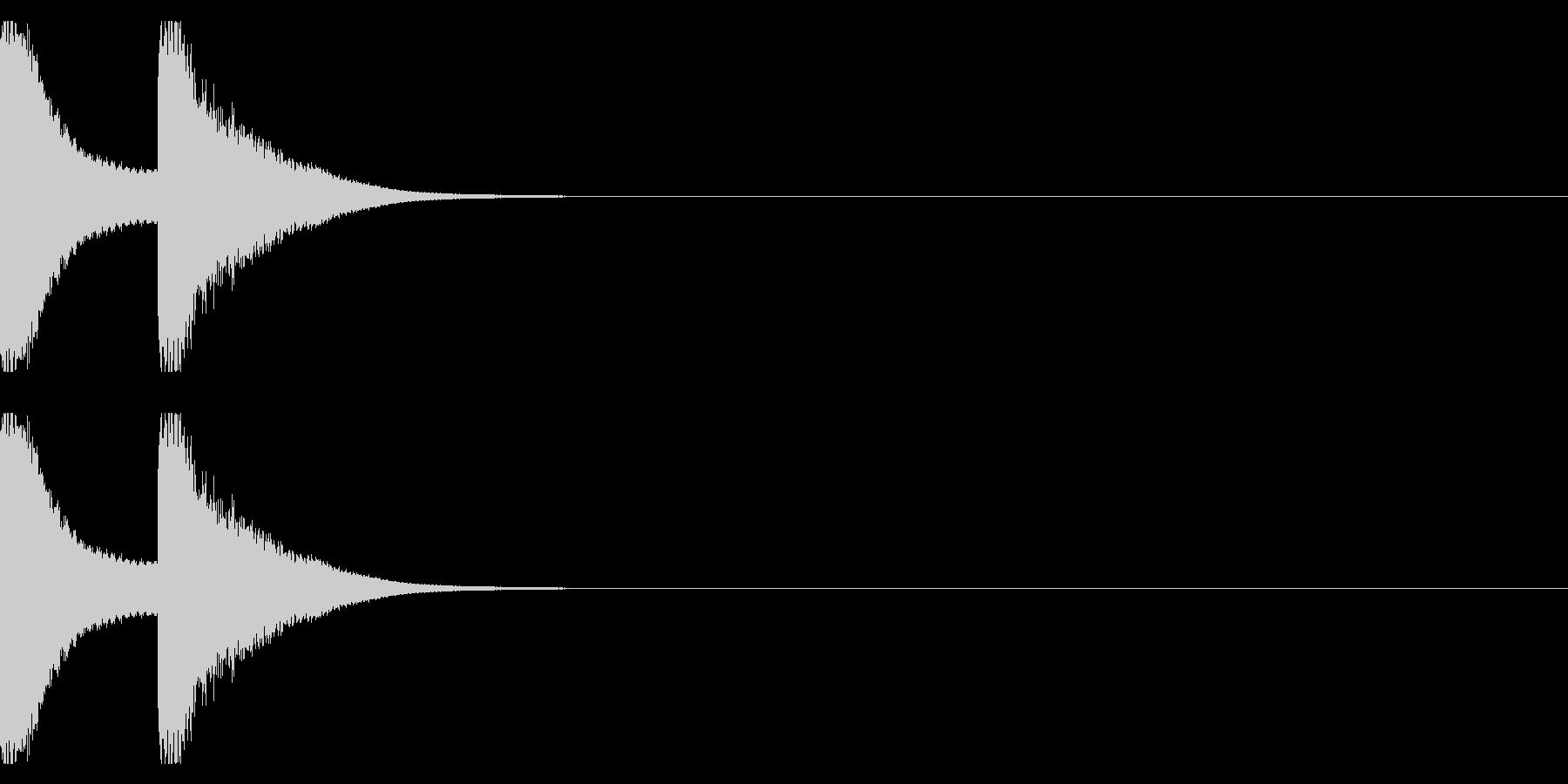 注意音ベル系01(ピンポン)の未再生の波形