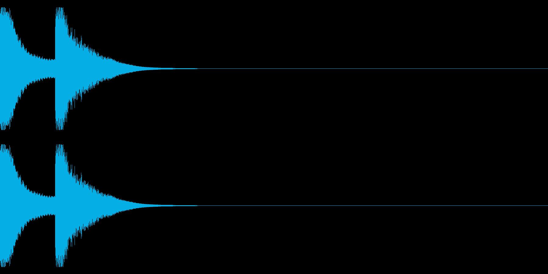 注意音ベル系01(ピンポン)の再生済みの波形