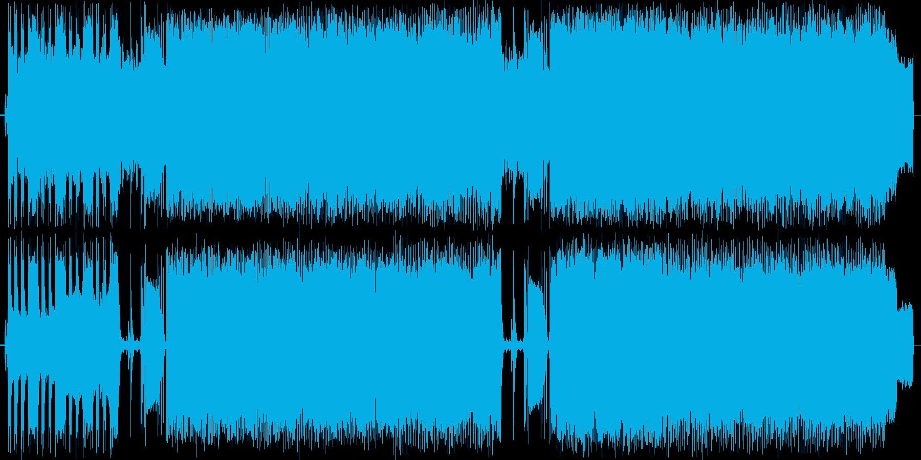 ヘヴィなメタル~PANTERA風~の再生済みの波形