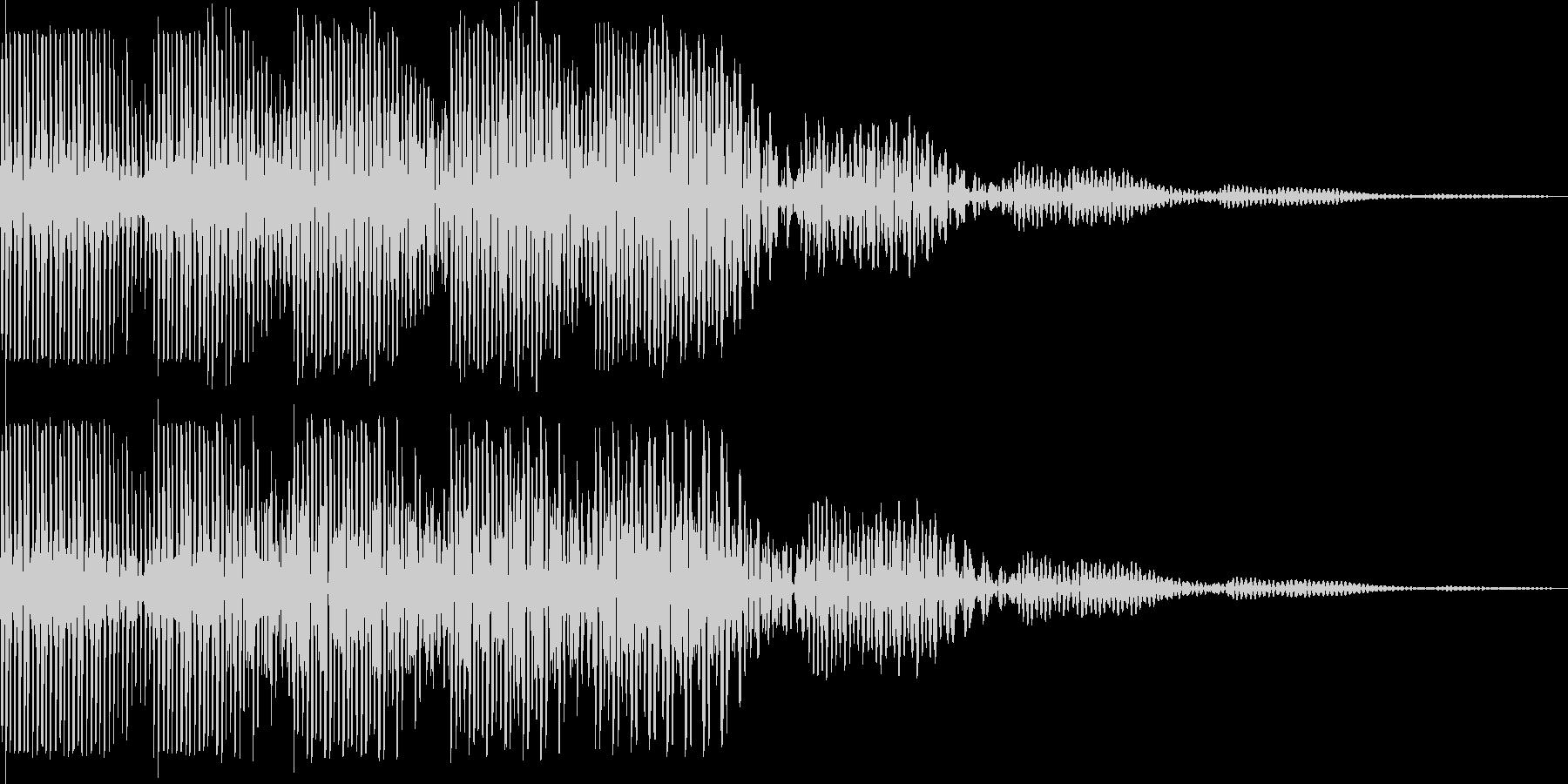ブウウン(ワープ レーザー モニター)の未再生の波形
