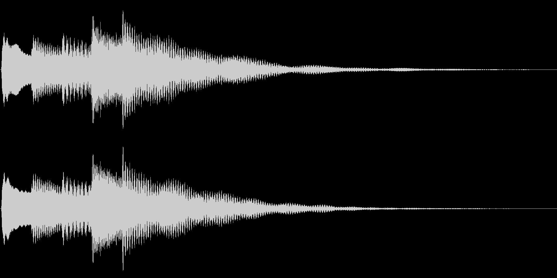 チャイム、通知音2の未再生の波形