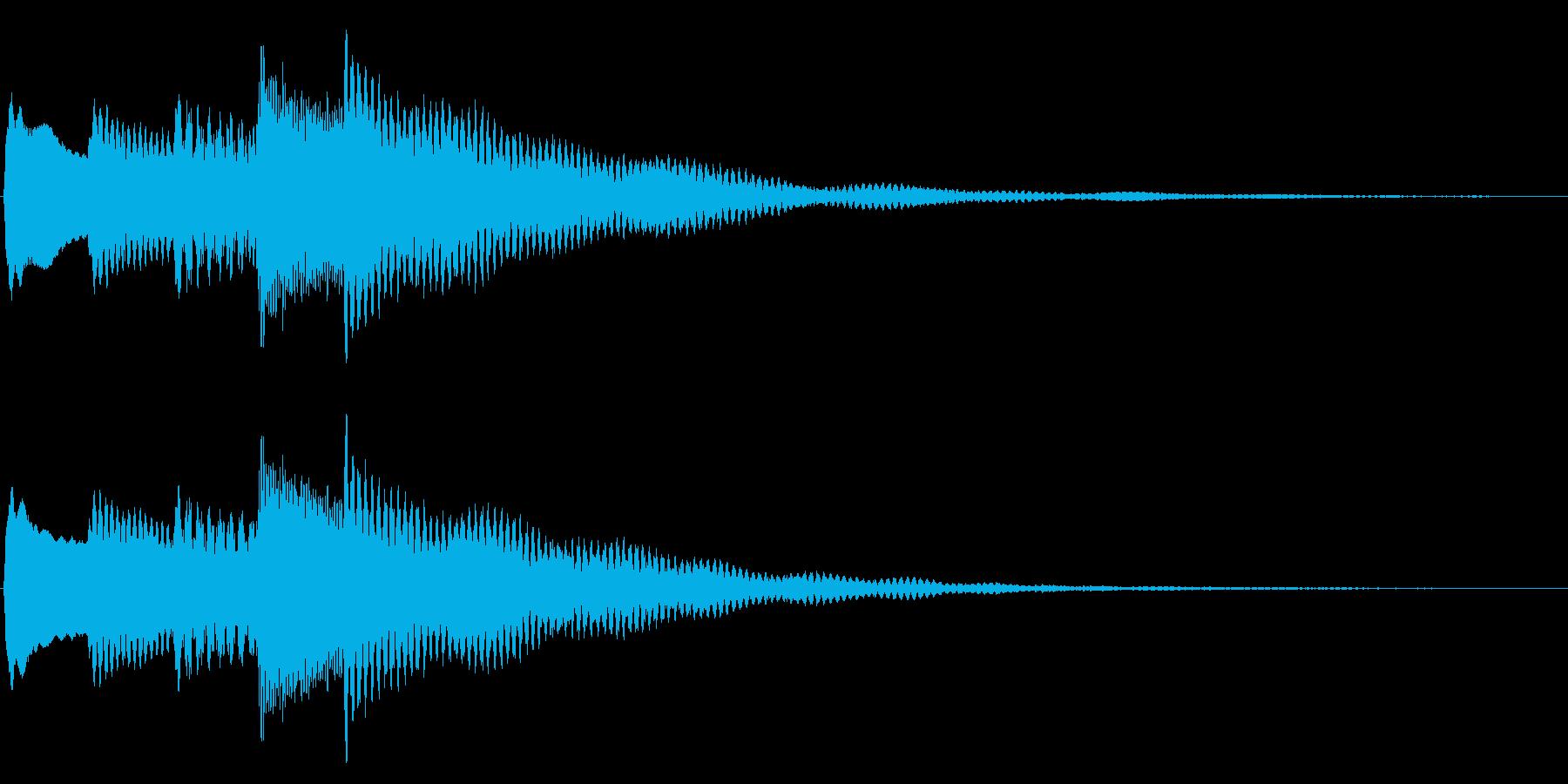 チャイム、通知音2の再生済みの波形