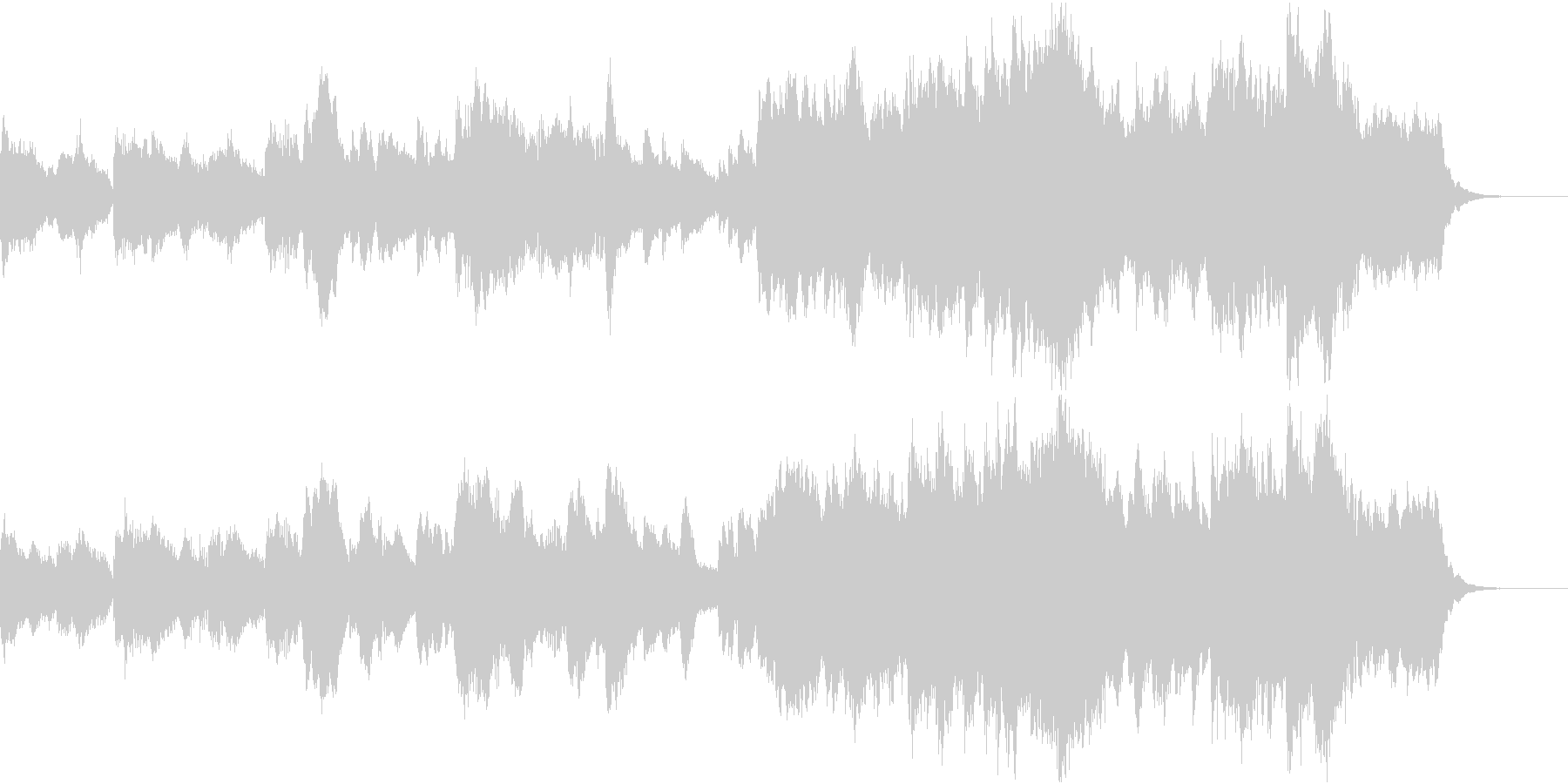 イントロ ジングル オーケストラ風アレンの未再生の波形