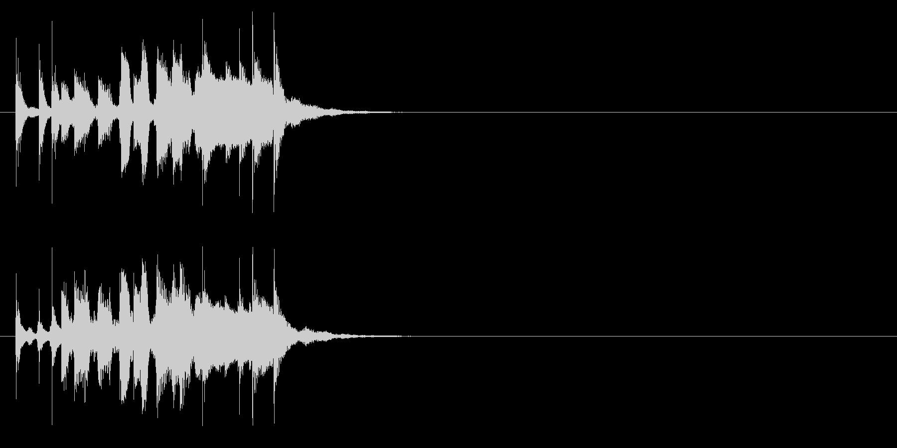ハンドクラップが特徴的なピアノジングルの未再生の波形