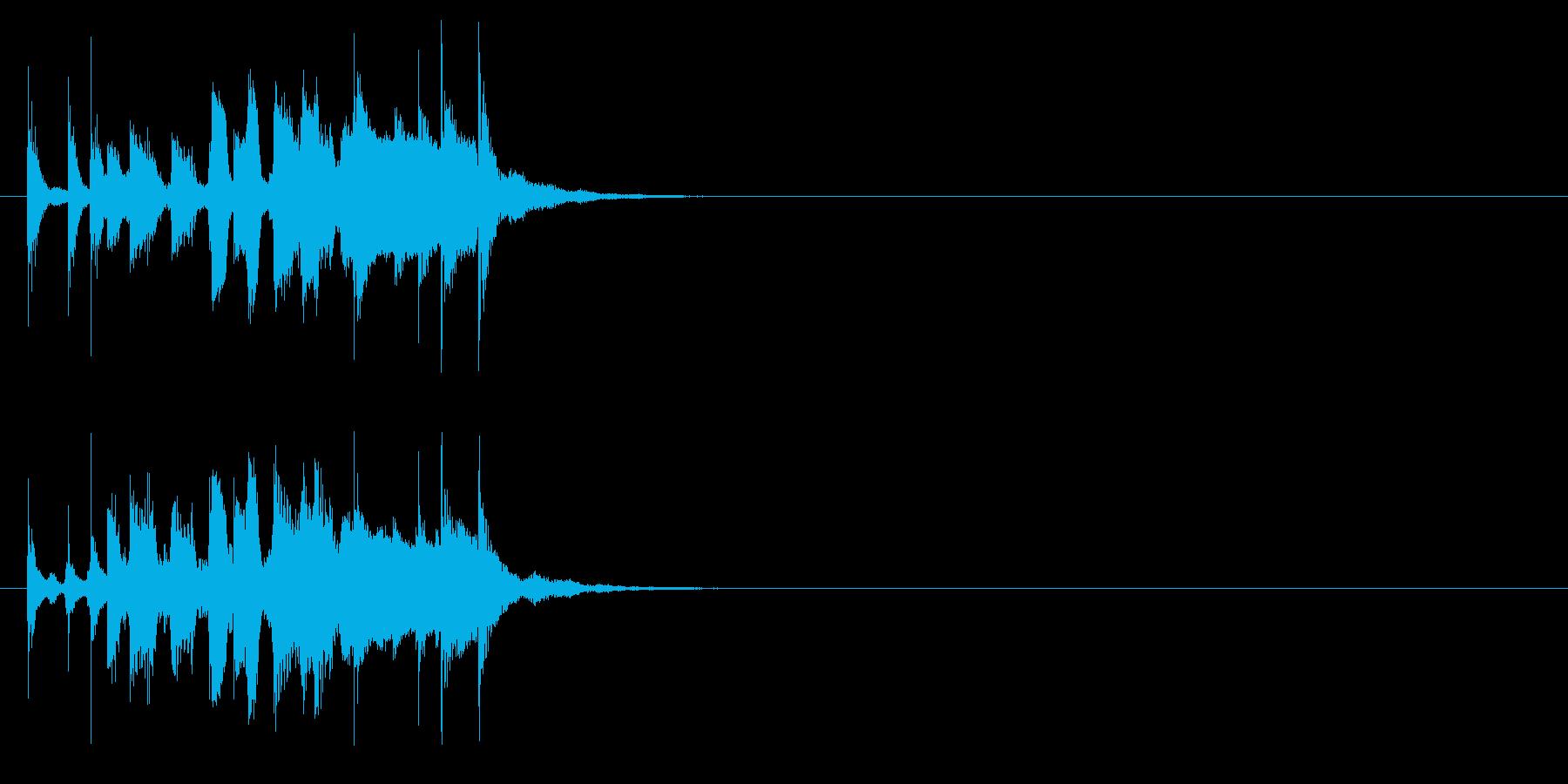 ハンドクラップが特徴的なピアノジングルの再生済みの波形