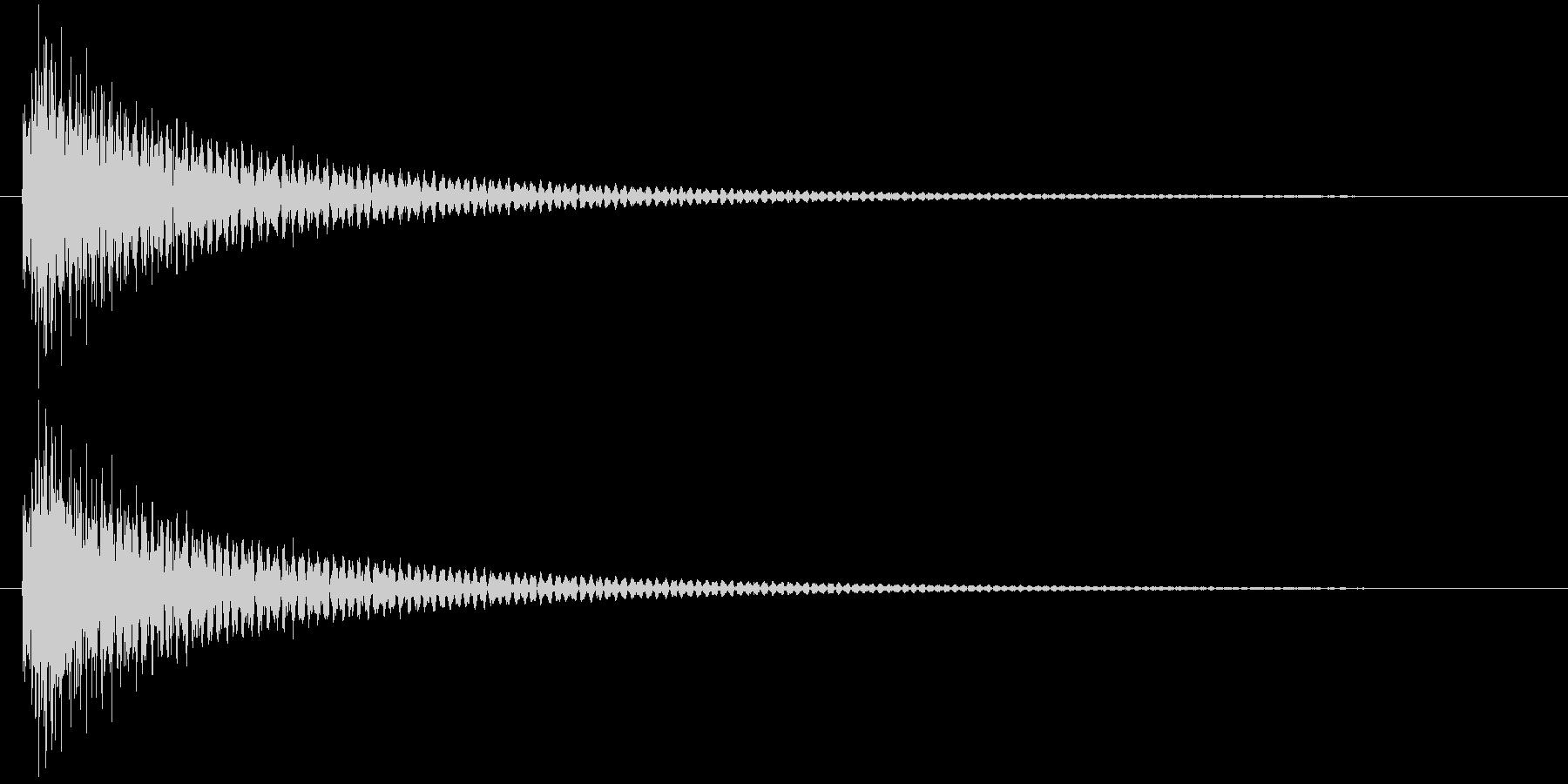 ギターによるクリック音の未再生の波形