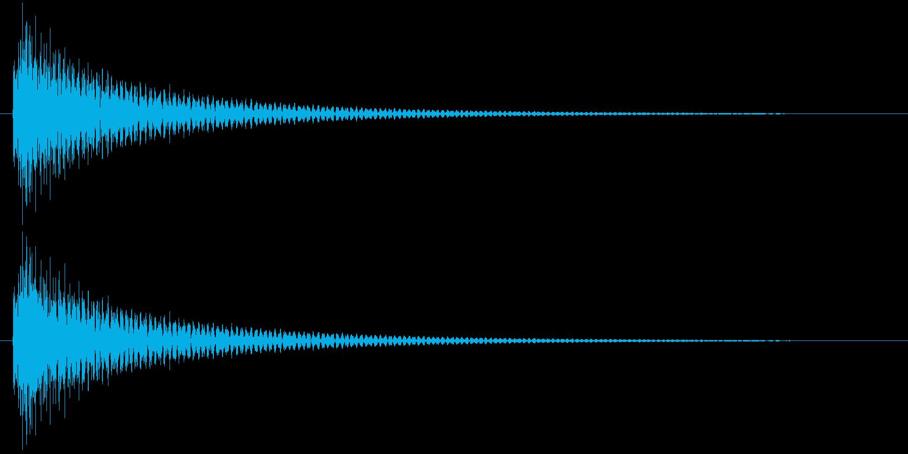 ギターによるクリック音の再生済みの波形