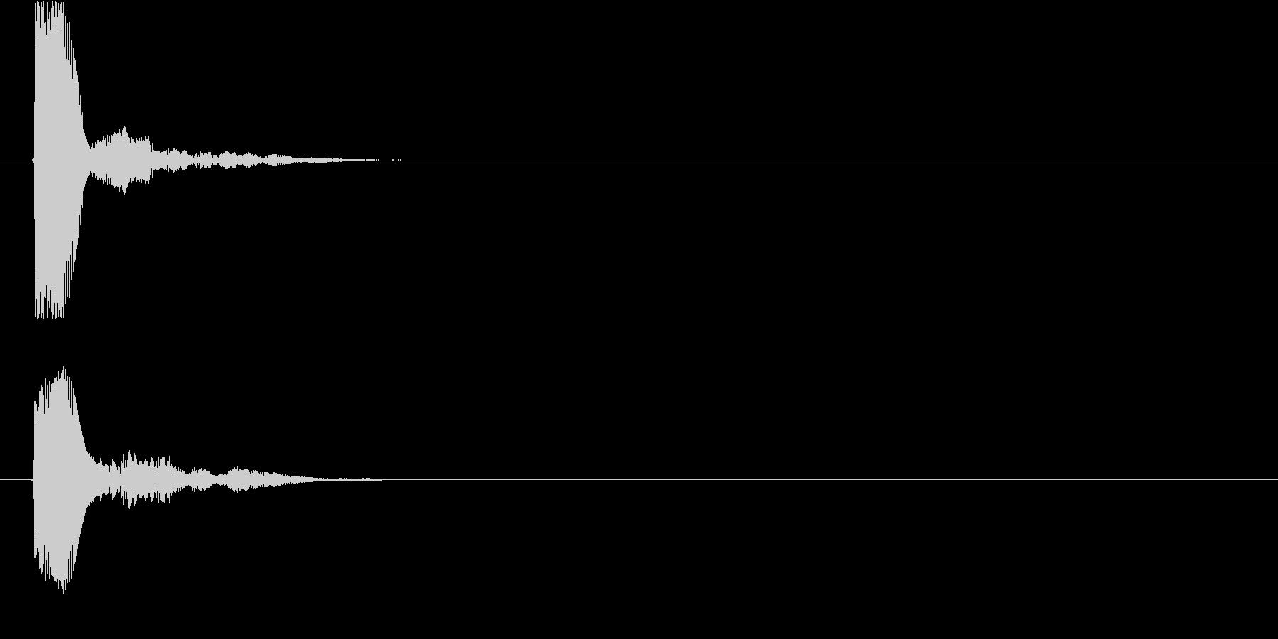ピッ(カーソル、キー入力、選択)の未再生の波形