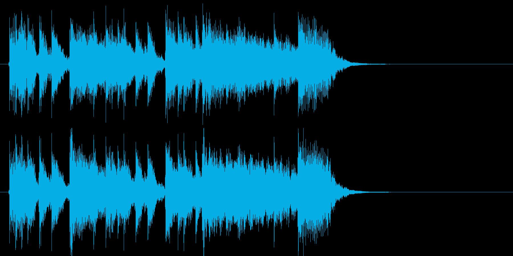 イベント等に使えるパワフルギタージングルの再生済みの波形