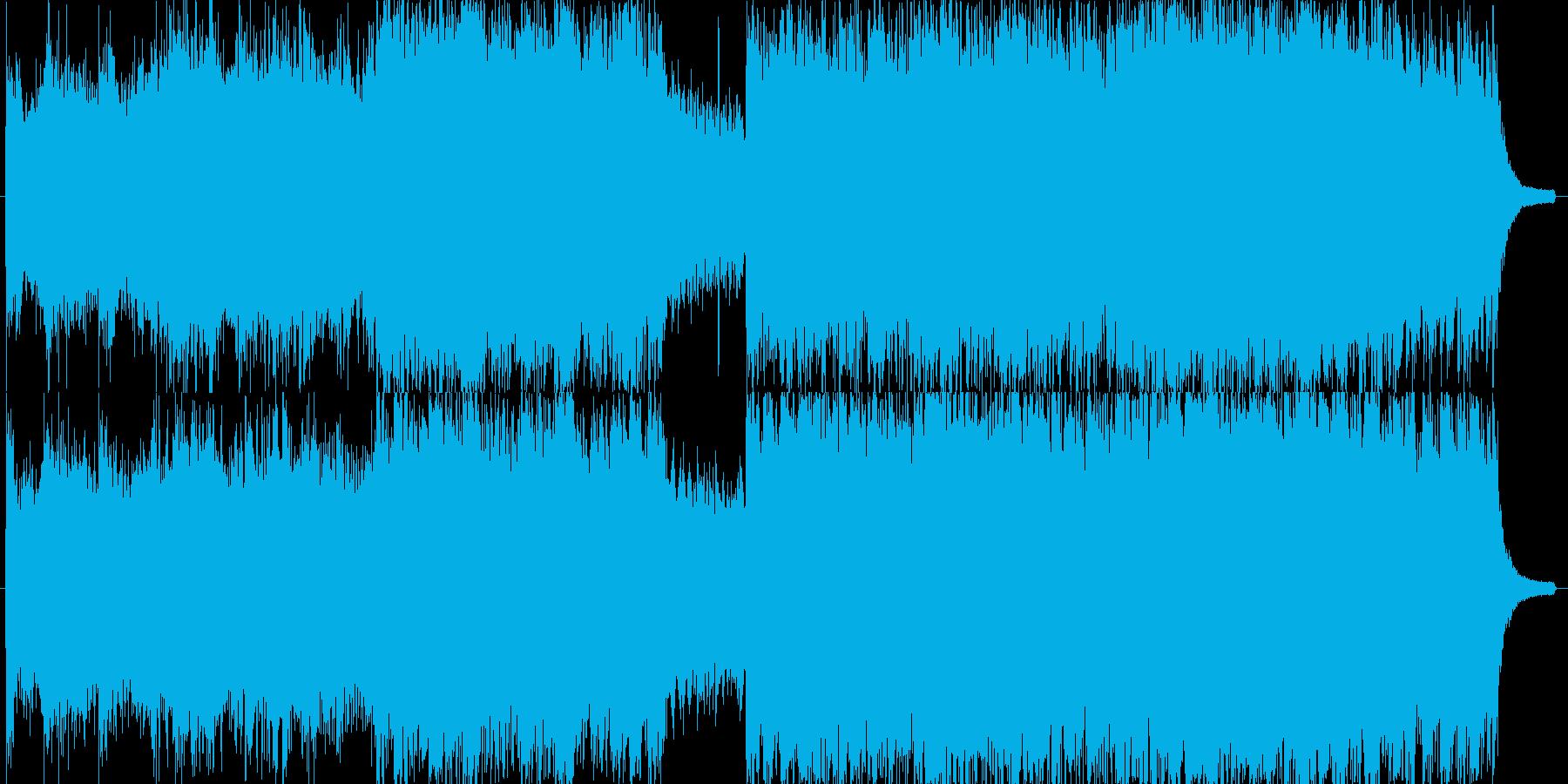 ゆったりとした幻想的な曲の再生済みの波形