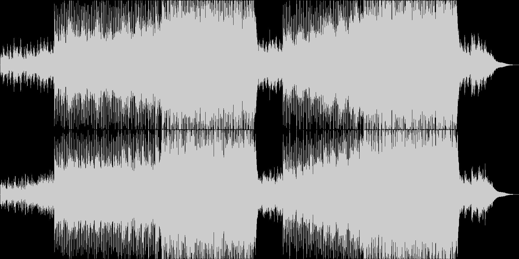 ピアノとストリングスの高揚感のある曲の未再生の波形