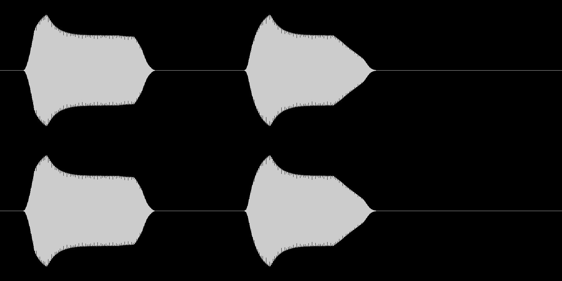 ピピッ(家電などの操作音)の未再生の波形