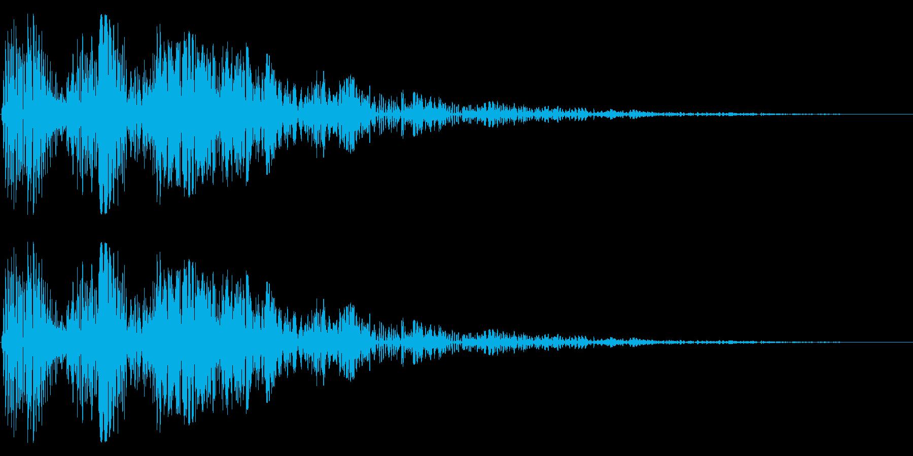 特撮にありそうなボコボコ、ブヨブヨの再生済みの波形