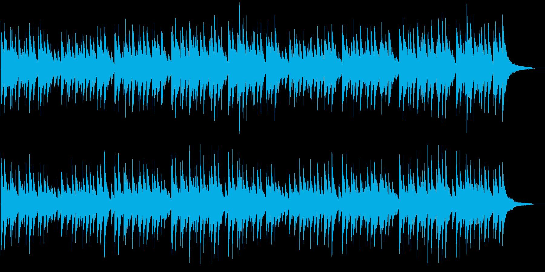 「蛍の光」 ピアノ伴奏の再生済みの波形