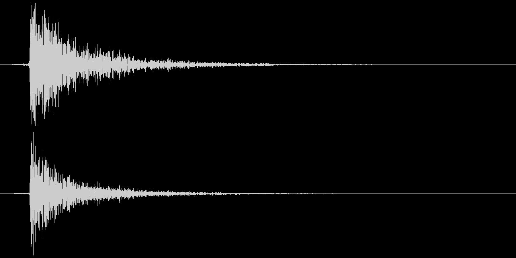 鍵をかける 施錠解錠 Dコンッ 反響の未再生の波形