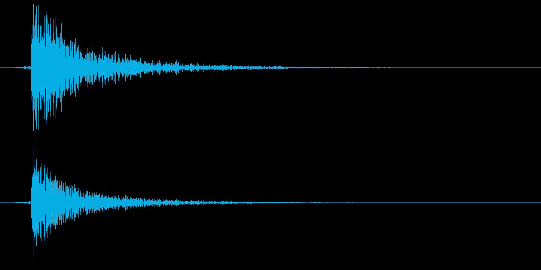 鍵をかける 施錠解錠 Dコンッ 反響の再生済みの波形