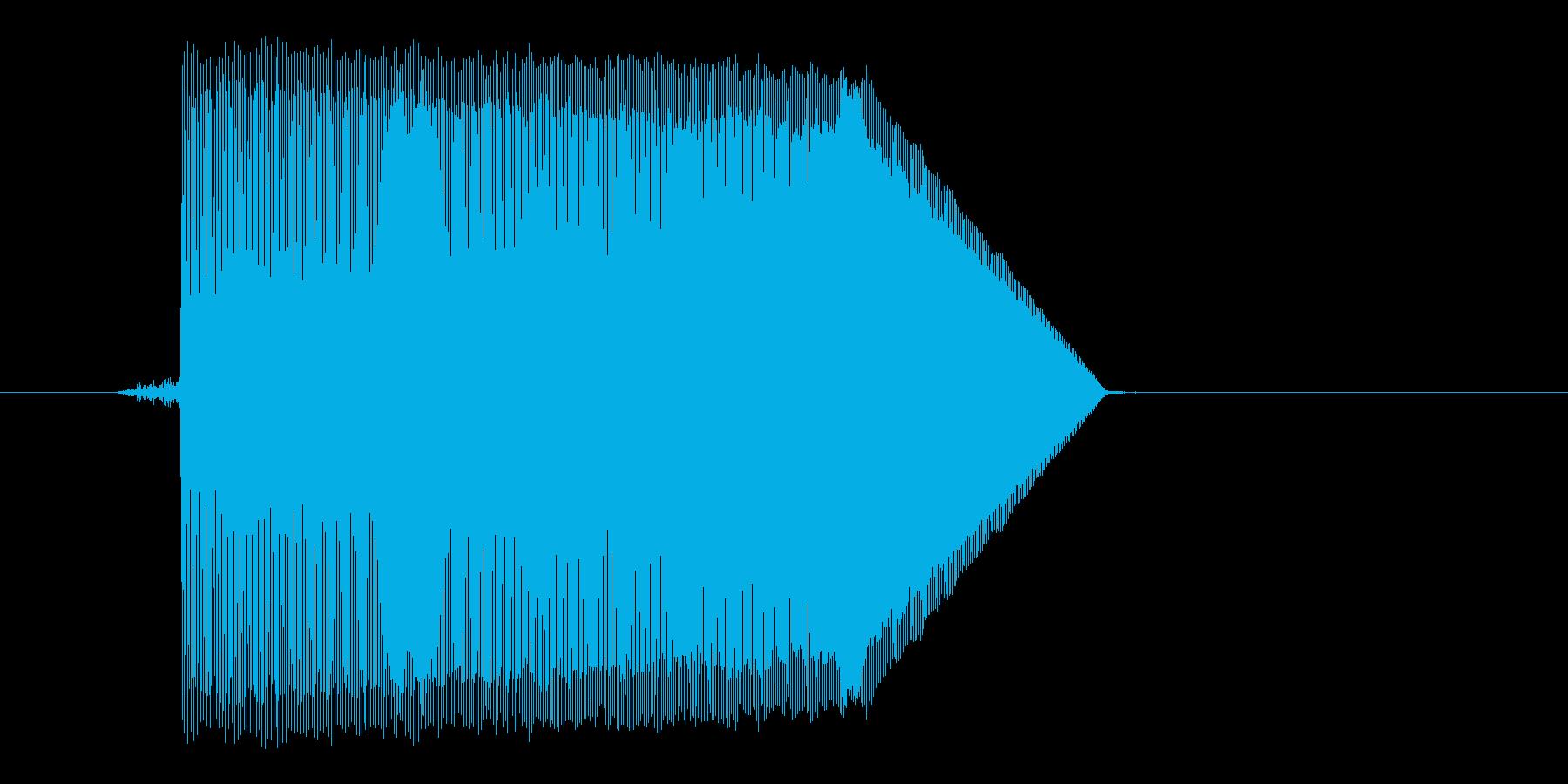 ゲーム(ファミコン風)ジャンプ音_017の再生済みの波形