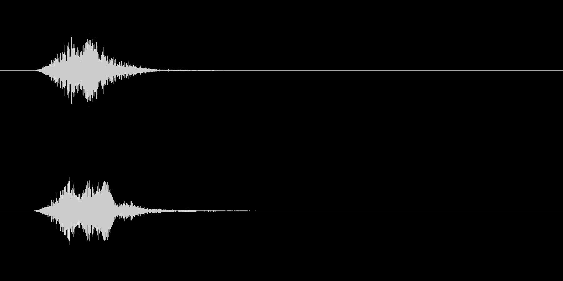 ウィンドウ表示の未再生の波形