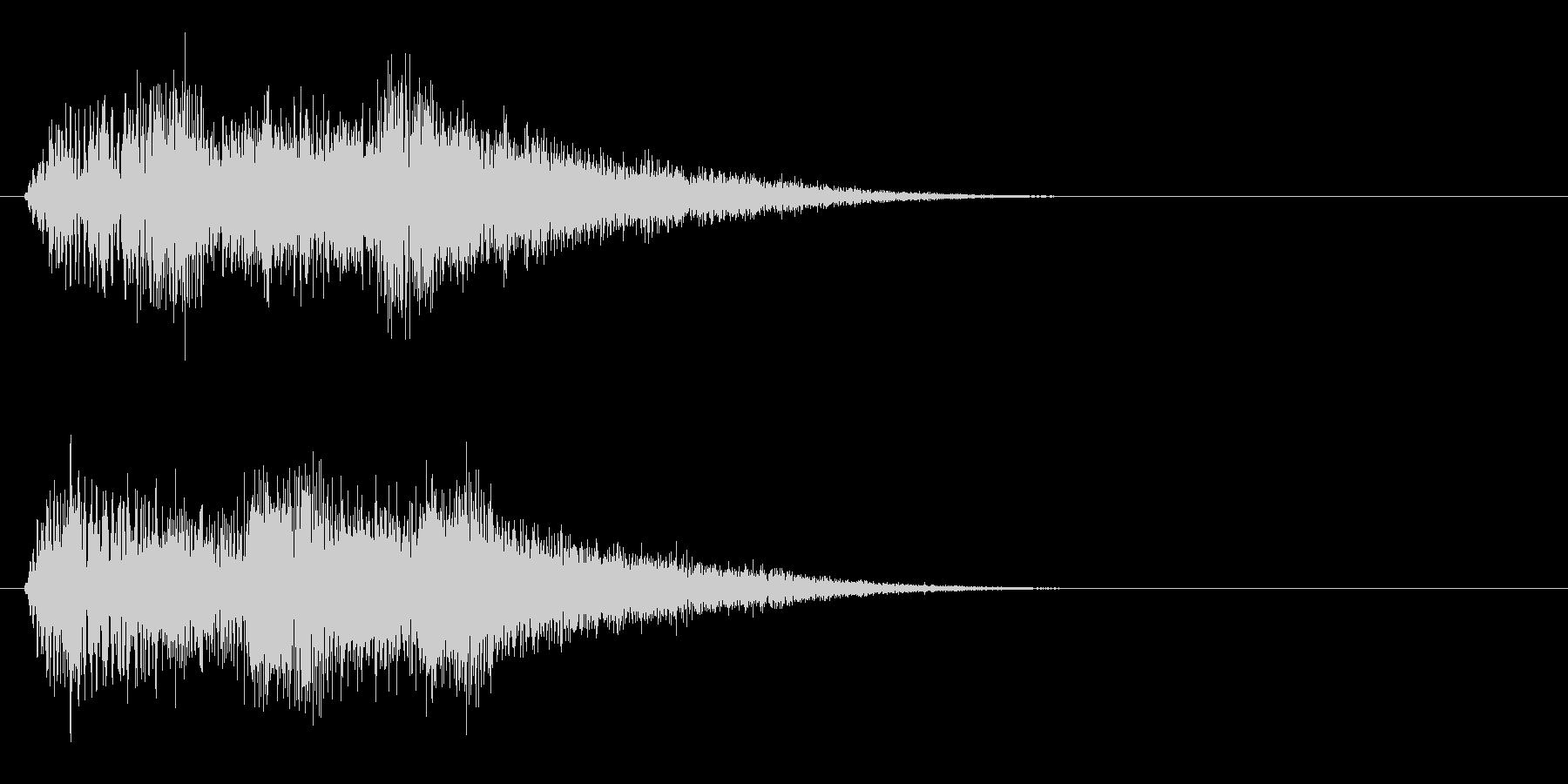 ブワンブワンブワン(魔法的な上昇音)の未再生の波形