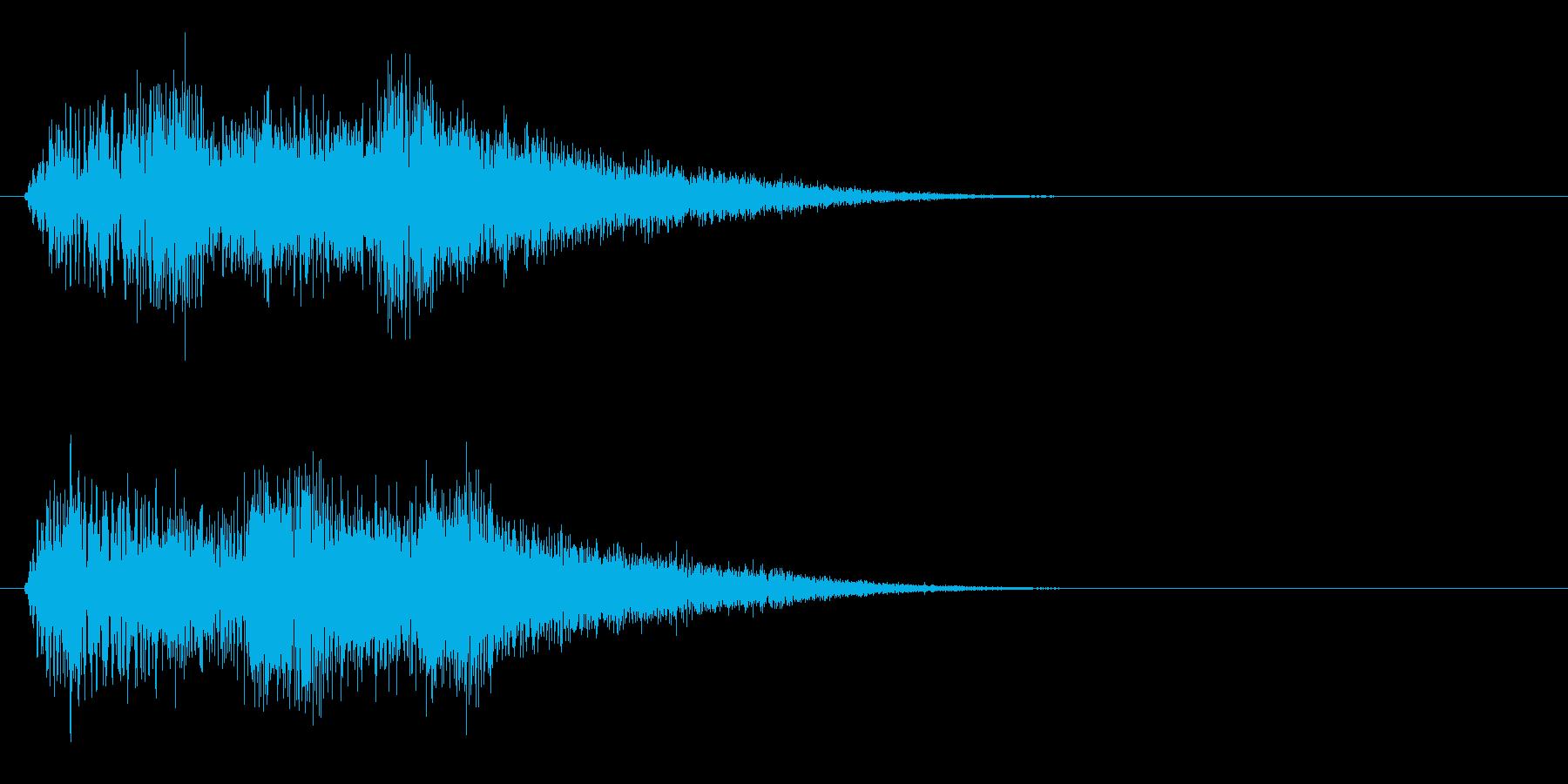 ブワンブワンブワン(魔法的な上昇音)の再生済みの波形