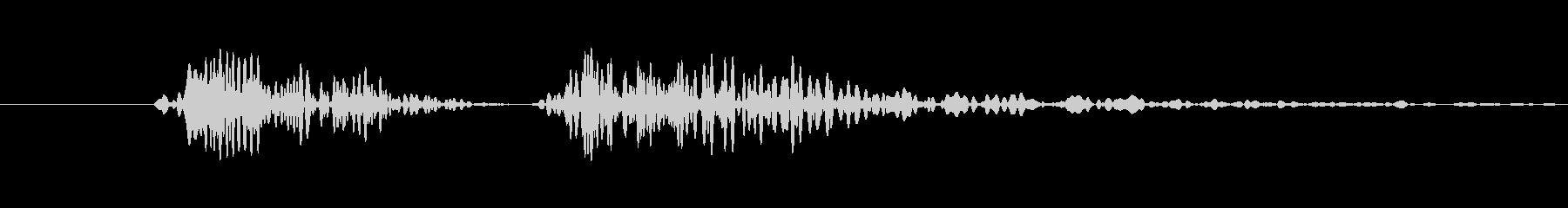 ボタンクリック向け電子音(カコッ)の未再生の波形