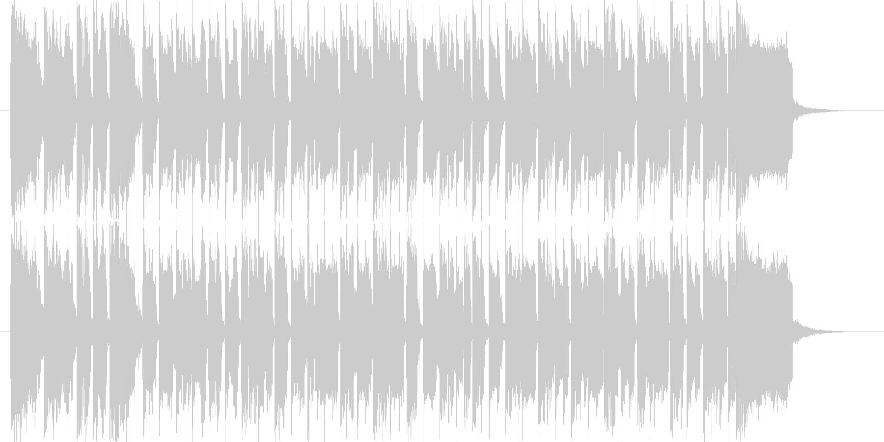 シンセがメロのほのぼのした曲です。の未再生の波形